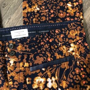 Anthropologie Pants - The essential slim by Anthropologie floral pants